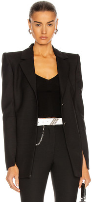 Off-White Shoulder Pad Blazer in Black | FWRD