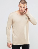 SikSilk Lightweight Sweater With Wide Collar