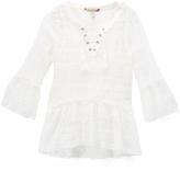 Speechless White Crochet Bell-Sleeve Top & Tank - Girls