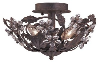 """Viv + Rae Alta 3 - Light 12"""" Chandelier Style Bowl LED Semi Flush Mount"""