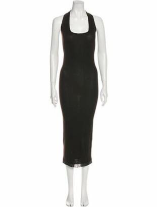 Urban Zen Scoop Neck Midi Length Dress Brown