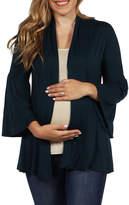 24/7 Comfort Apparel Shirt Jacket-Plus Maternity
