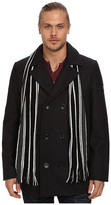 "Buffalo David Bitton 30 1/2"" Wool Blend Peacoat with Scarf"