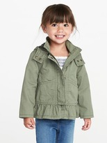 Old Navy Hooded Peplum-Hem Anorak for Toddler Girls