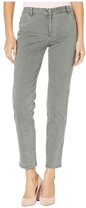 Elliott Lauren Pigment Dye Twill Five-Pocket Jeans (Eucalyptus) Women's Jeans