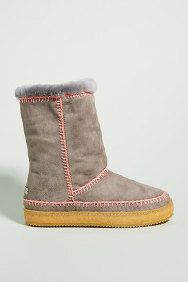 Laidback London Naira Boots By Laidback London in Grey Size 36