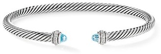 David Yurman Cable Classic Bracelet with Gemstone & Diamonds