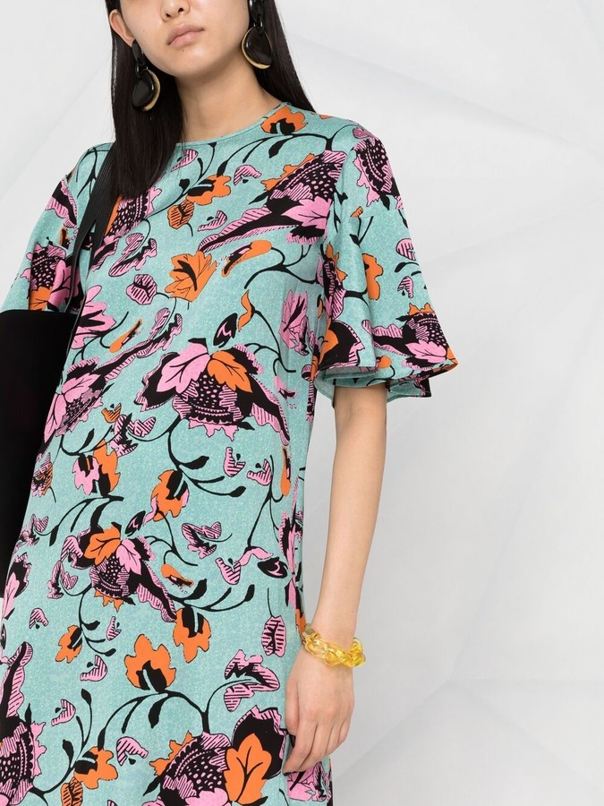 Thumbnail for your product : Diane von Furstenberg Arlene Cady floral dress