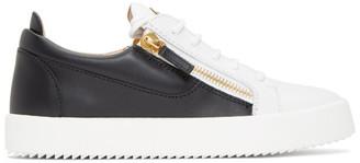 Giuseppe Zanotti White and Black May London Frankie Sneakers