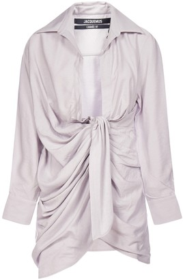 Jacquemus Bahia Knotted Shirt Dress