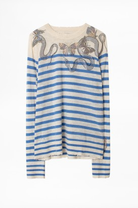 Zadig & Voltaire Miss Stripes Multicusto Cashmere Sweater