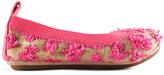 Yosi Samra Pink Lemonade Raffia Flat - Infant Toddler & Girls