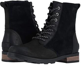 Sorel Emelie Short Lace (Black) Women's Lace-up Boots