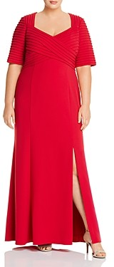 Adrianna Papell Plus Crepe Gown