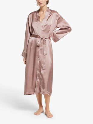 John Lewis & Partners Mariella Silk Robe, Oyster