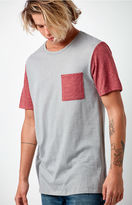 On The Byas Raglan Gray Pocket T-Shirt