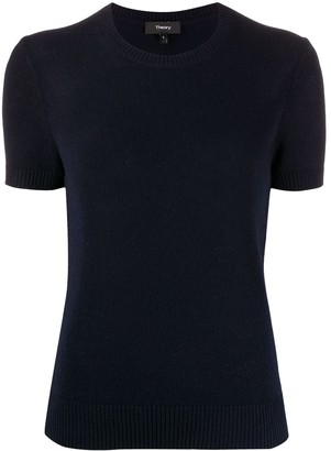 Theory Short-Sleeve Knitted Jumper