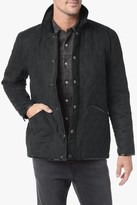 7 For All Mankind Quilted Barn Jacket In Blk