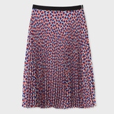 Paul Smith Women's 'Half-Heart' Print Pleated Skirt