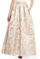 Eliza J Floral Brocade Ball Skirt