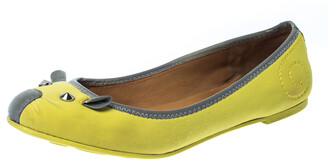 Marc by Marc Jacobs Citrus Green/Grey Fabric Mouse Ballet Flats Size 39