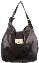 Jimmy Choo Embossed Leather Hobo