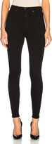 GRLFRND Kendall Super Stretch High Rise Skinny Jean in Black.