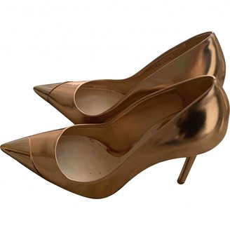 Christian Dior D-Stiletto Gold Leather Heels