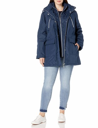 Big Chill Women's Plus Size Hooded Vestee Anorak