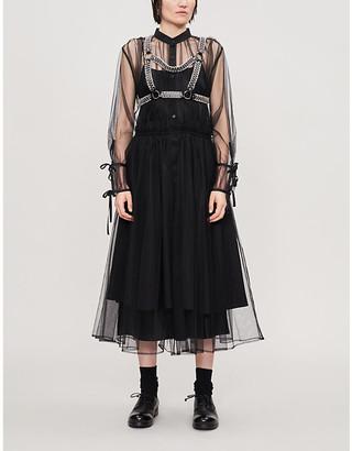 Noir Kei Ninomiya Layered tulle midi dress