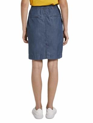 Tom Tailor Women's Denim-Look Skirt 10110-Blue 38
