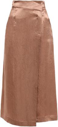 GOEN.J Crinkled-satin Midi Wrap Skirt