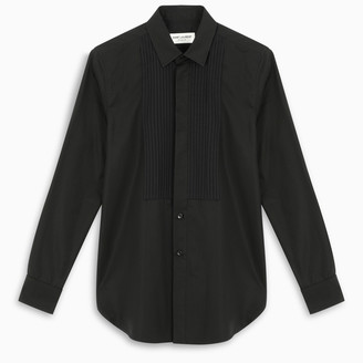 Saint Laurent Black shirt with pleated bib