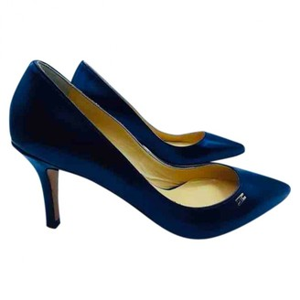 Elisabetta Franchi Blue Leather Sandals