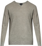 Lanvin V-neck Long-sleeved Wool Sweater