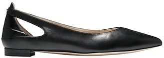 Cole Haan Ramsey Cutout Leather Ballet Flats