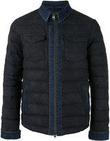 Etro denim detail down jacket - men - Cotton/Feather Down/Polyamide - S