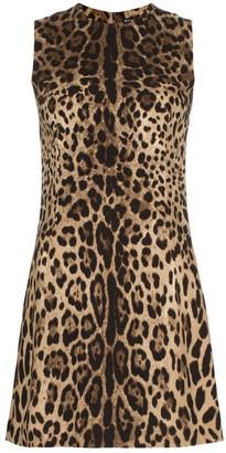 Dolce & Gabbana Leopard Print Short Dress