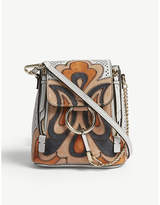 Chloé Faye suede and leather patchwork mini backpack