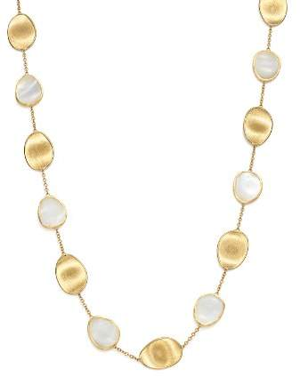 """Marco Bicego 18K Yellow Gold Lunaria Mother-of-Pearl Collar Necklace, 16"""""""