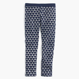 J.Crew Girls' everyday leggings in glitter hearts