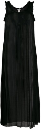 Issey Miyake Pre Owned Sleeveless Pleated Maxi Dress