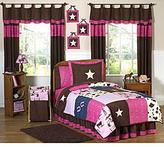 JoJo Designs Sweet Pink/ Brown 4-piece Twin-size Comforter Set