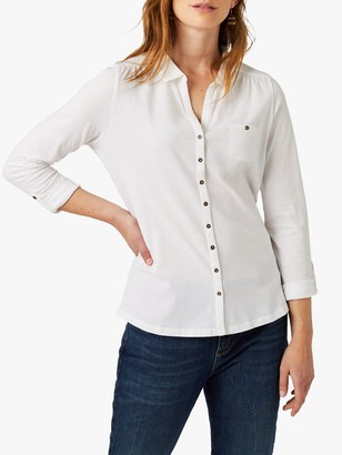 White Stuff Garden Long Sleeve Jersey Shirt