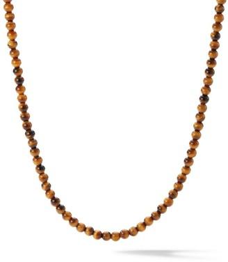 David Yurman Spiritual Beads Tiger's Eye Necklace