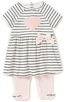 Starting Out Baby Girls 3-24 Months Short-Sleeve Sequin Top & Leggings Set