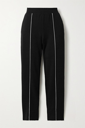 ATM Anthony Thomas Melillo Piped Jersey Track Pants - Black