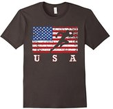 American Flag Track & Field Shirt, USA Gift, Track Team