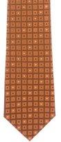 Christian Dior Silk Tile Print Tie