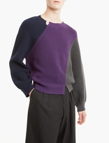 J.w. Anderson Panelled Merino Wool Sweater